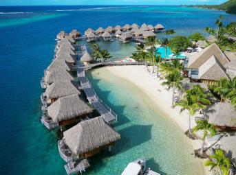 タヒチ・モーレア島へ行く♪マナバ ビーチ リゾート アンド スパ モーレア3泊+パペーテ1泊の4泊6日間<朝食・送迎付>★ビジネス利用・ホテルアップグレードプランあり★