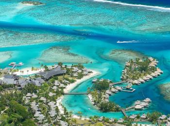 タヒチ・モーレア島へ行く♪インターコンチネンタル モーレア リゾート&スパ3泊+パペーテ1泊の4泊6日間<朝食・送迎付>★ビジネス利用・ホテルアップグレードプランあり★