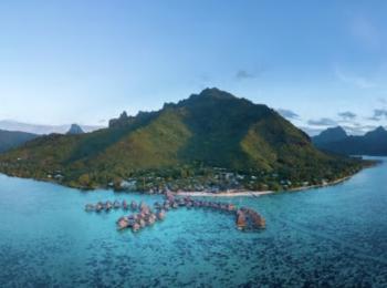 タヒチ・モーレア島へ行く♪ヒルトン モーレアラグーン リゾート アンド スパ3泊+パペーテ1泊の4泊6日間<朝食・送迎付>★ビジネス利用・ホテルアップグレードプランあり★