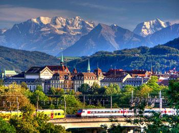 夜発の大人気エミレーツ航空で行く//寝台列車『ENユーロナイト』に乗車//スイス・オーストリアパス付ベルン・インターラーケン・ウィーン8日間