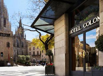立地もデザインも重視4つ星ホテル『コロン』宿泊バルセロナ5日間