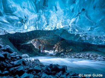 神秘!氷の世界【ブルーアイスケイブ】・巨大露天風呂【ブルーラグーン】アイスランド満喫7日間