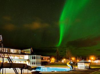 ボルガルネス アイスランド オルク オーロラ 郊外ホテル