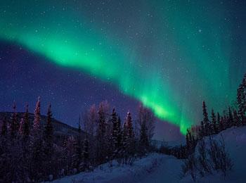アラスカ フェアバンクス オーロラ チナ温泉