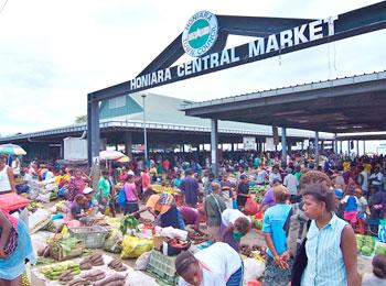 ホニアラ セントラルマーケット ガダルカナル島 ソロモン諸島 戦跡巡り