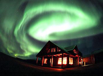 アイスランド ホテル ランガ オーロラ