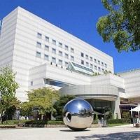 建築家丹下健三氏によるデザインによるおしゃれな広島市文化交流会館(外観)