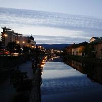小樽運河の夕景