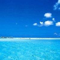 【百合ヶ浜】干潮時だけに姿を現す真っ白な砂浜