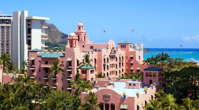太平洋のピンクパレス・ロイヤルハワイアン/外観イメージ