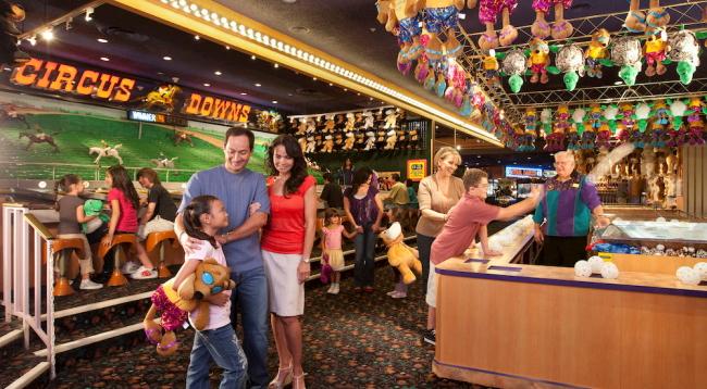 縁日的なゲーム、ゲームセンターなどお子様が喜ぶアトラクションがいっぱい!/サーカスサーカス/イメージ<br />