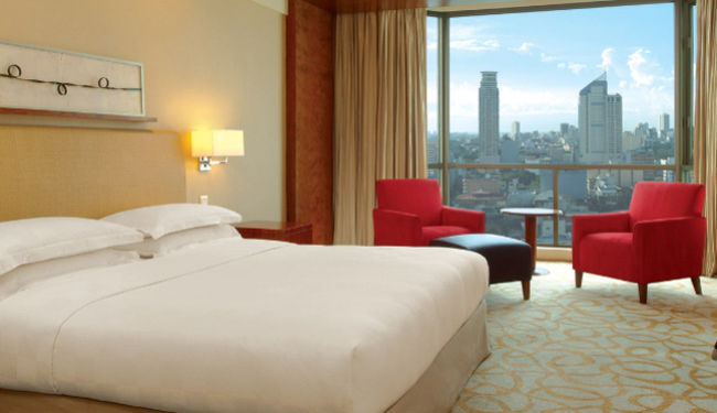 お部屋からはマニラを一望できます!/ニューワールドマニラ ベイホテル(旧ハイアット)/お部屋イメージ