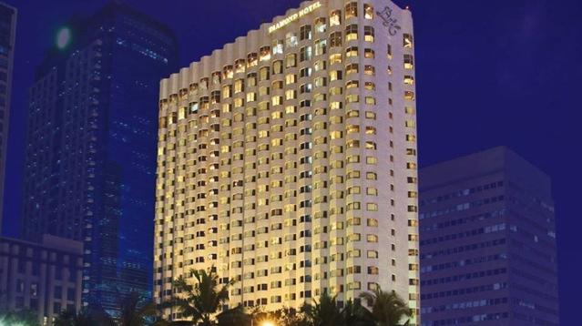 マニラ湾を望める27階建てのデラックスホテル・ダイヤモンドホテル(イメージ)<br />