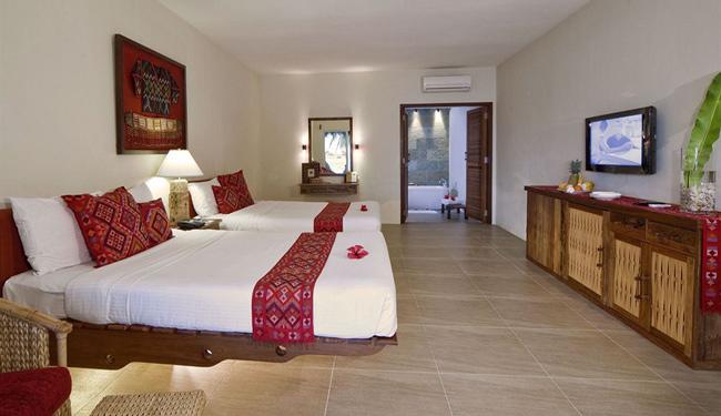 フローティングベッドが印象的!広々バスルームも完備!/プレミアムデラックスルーム(イメージ)