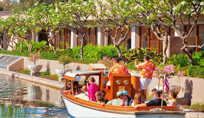 広大なリゾート内の移動はボートやトラムで!/ヒルトンワイコロア/イメージ