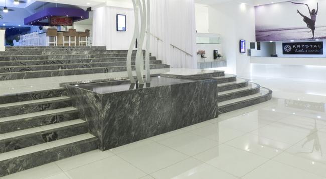 全体が白で統一された大理石の床のロビー/クリスタルカンクン/イメージ