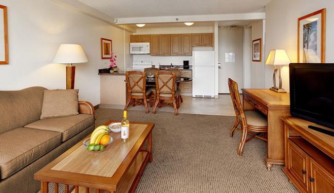 キッチン付きリビングルームと寝室が分かれた1ベッドルーム/アストンワイキキサンセット/イメージ